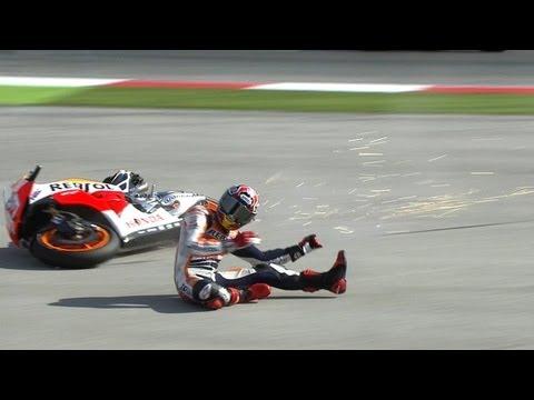 Marc Marquez crash Misano 2013 - MotoGP WUP Action