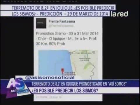 SALFATE | Terremoto 8.2 en Iquique ¿Es posible predecir Terremotos?
