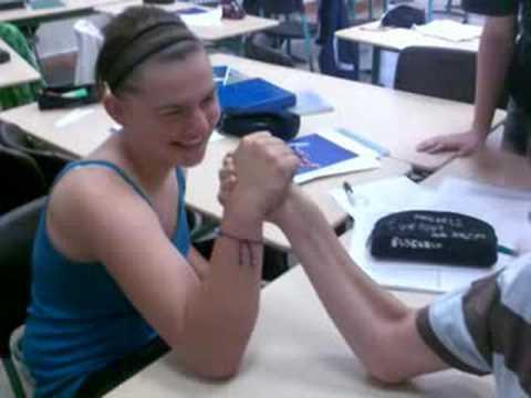 Girl vs boy armwrestling 2