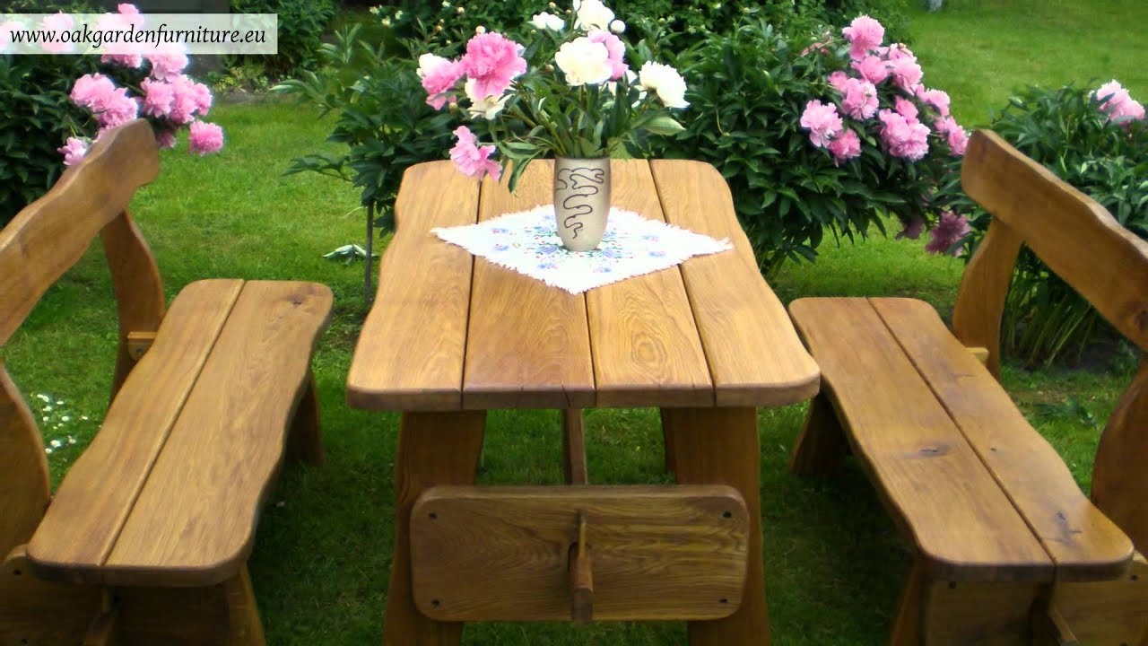Outdoor Rustic Wooden Furniture - YouTube