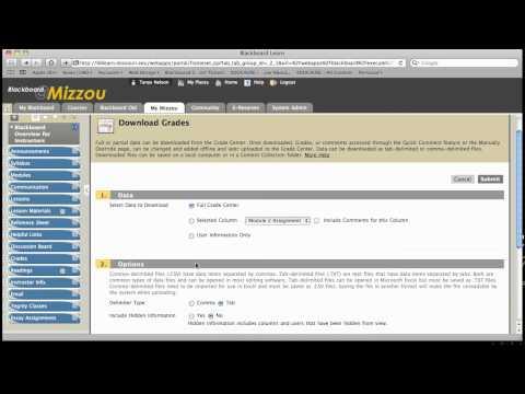 Work Offline - Uploading and Downloading Grades in Blackboard