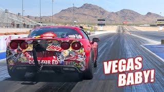 LS Fest LAS VEGAS Day 1: The Auction Corvette's Fastest Pass EVER! (Testing & Qualifying)