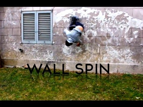 Parkour wall spin