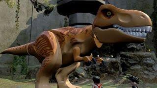LEGO Jurassic World - Free Roam Gameplay - Jurassic World Hub (T-Rex Gameplay)
