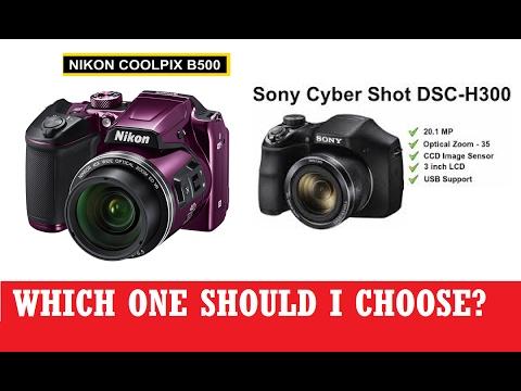 camera testing nikon coolpix b500 and sony dsc h300