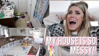 CLEAN WITH ME 2019 | MESSY HOUSE TIDYING UP & EXTREME CLEANING MOTIVATION | Lauren Midgley