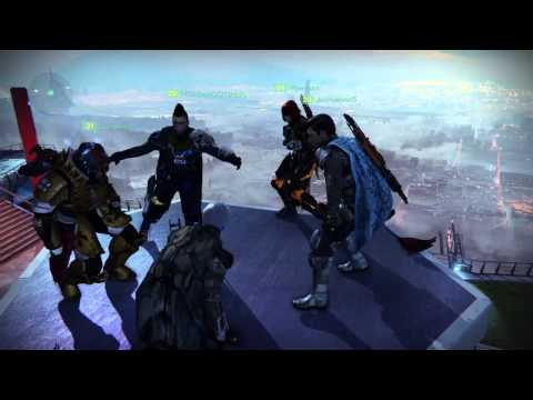 Bank dance party in Destiny.