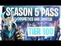 ALL NEW FORTNITE SEASON 5 BATTLE PASS REWARDS & CHALLENGES! - UNLOCKING TIER 100 & LIVE REACTION!