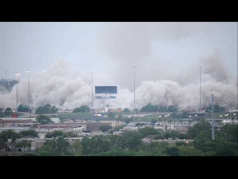 Texas Stadium / Dallas Cowboys Demolition & Implosion Video