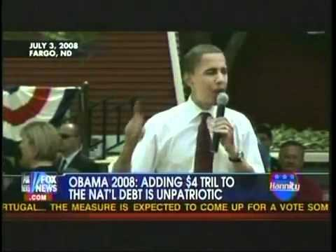 Obama on raising the Debt Ceiling during his 2008 Campaign