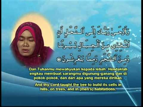 Qari-ah Faridah Of Indonesia - Al-nahl 65 video