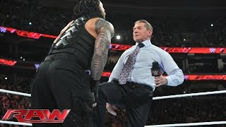 Mr. McMahon decides Roman Reigns' fate: Raw, December 14, 2015