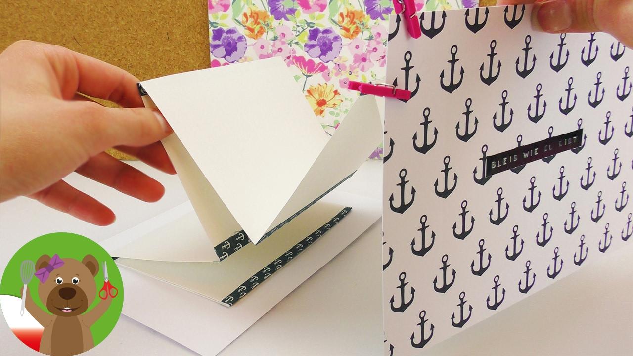 DIY pomysł na prezent | niekończący się list | list złożony w harmonijkę