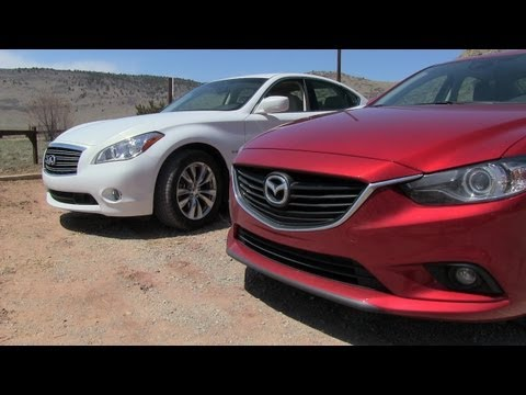 2014 Mazda6 vs Infiniti M35 Hybrid Technology Mashup Review