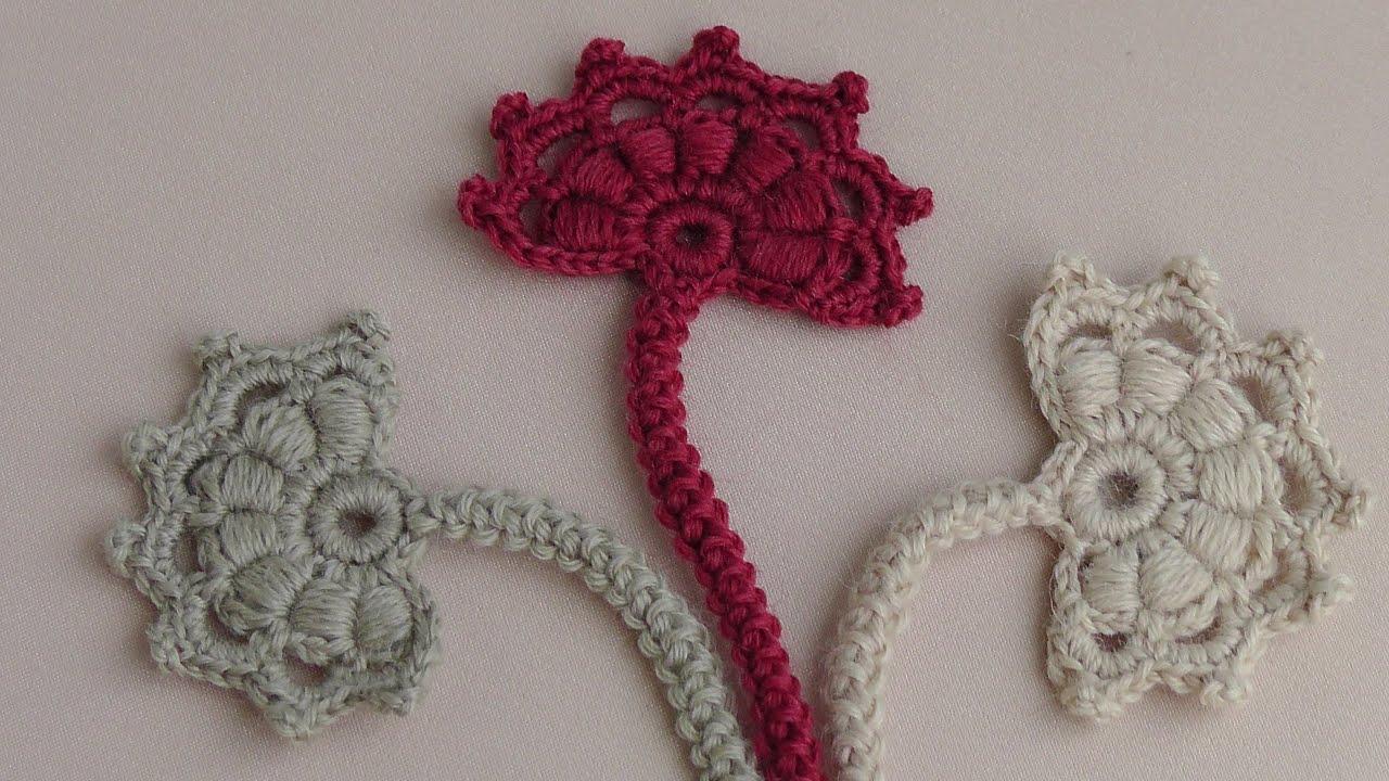 Вязание бутона цветка
