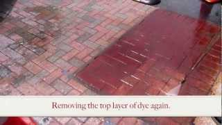 Enhance Brick Pavers w/ a Concrete Grinder & Concrete Dye