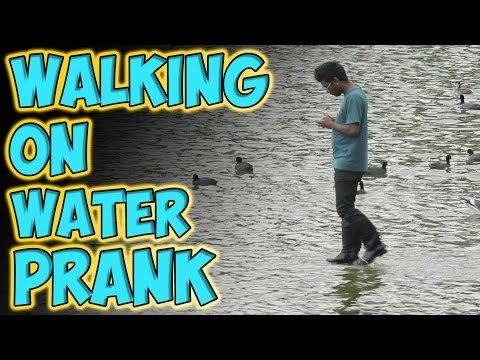 Walking On Water Prank video