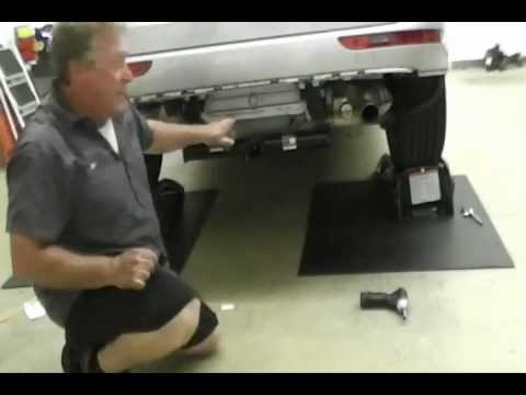 audi  trailer hitch installation draw tite
