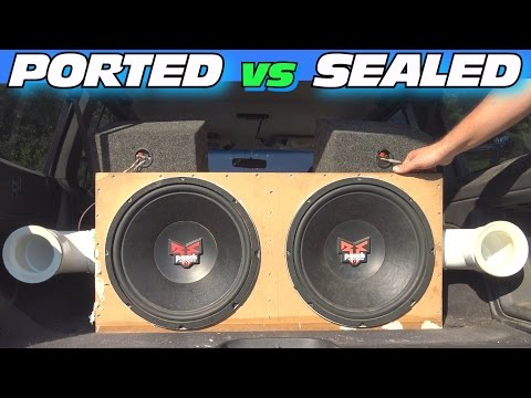 Ported vs Sealed Subwoofer Box w/ Adjustable Port Tuning & CLEAN Car Audio Install + LOUD BASS!!