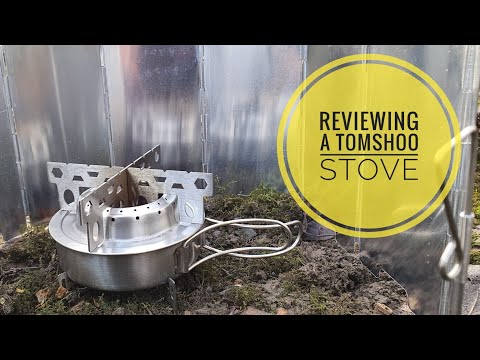 Tomshoo portable alcohol stove burner with mini wind shield.