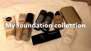 My foundation collection/ best foundations for oily skin