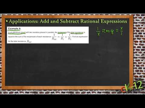 Solve Applications by Adding and Subtracting Rational Expressions: A Sample Application