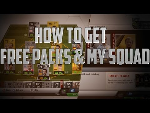 Fifa 13 Ultimate Team   How to get Free Packs! & My Squad!