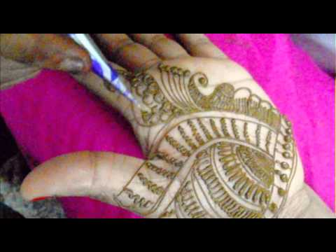 How To Learn Quick Mehendi Art Design-Draw Mehndi On Palm/2013 Mehandi