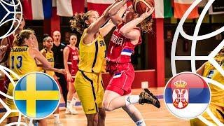 Sweden v Serbia - Class Game 9-16 - Full Game - FIBA U18 Women's European Championship 2018  from FIBA