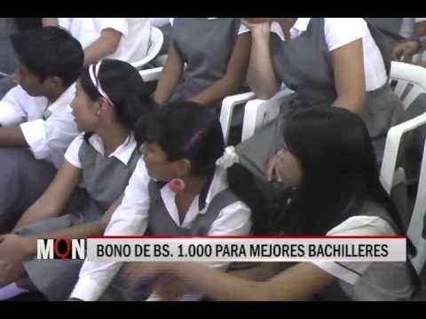 26/11/2014 18:00 BONO DE BS  1 000 PARA MEJORES BACHILLERES