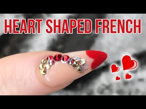 Acrylic Heart Shaped French Tip Inside A Dual Form - Step By Step Tutorial