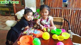 Bóc trứng socola - Trò chơi bóc trứng bất ngờ - Dinosaur Magic Eggs Surprise