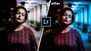 Lightroom Tutorial How to create dual tone effect // portrait light effects  in Lightroom 2018