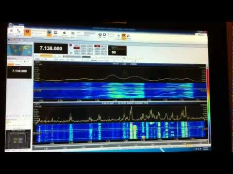 Remote SDR Software Defined Radio Monitor of ZS3D & Ai4W QSO