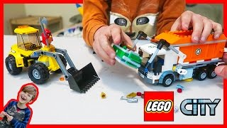 Lego City Garbage Truck and Front Loader