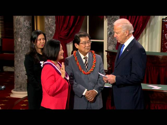 Swearing in of Senator Mazie Hirono (D-Hawaii)
