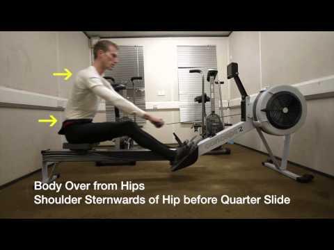 lower back rowing machine