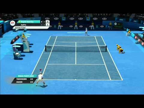 Grand Slam Tennis 2 online ranked match Vs world #6 ranked p