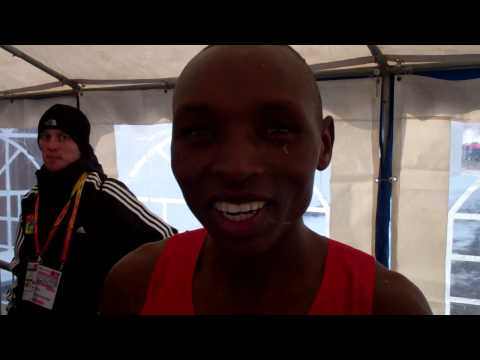 Japhet Kipyegon Korir After Winning 2013 World Cross Country Championships