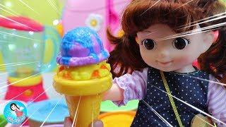 ของเล่นไอติมเปลียนสี ของเล่นญี่ปุ่น  Baby Doll Ice Cream shop Learn Color