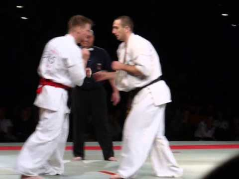 EUROPEAN KYOKUSHIN KARATE CHAMPIONSHIPS 2012 KIELCE POLAND Adult Kumite Open Man Final Image 1