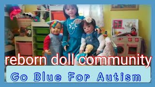 Reborn Theme of The Week BLUE FOR AUTISM girls OOTD