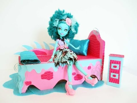 How to make a Honey Swamp doll bed Tutorial/ Monster High