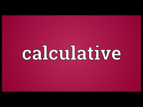 Header of calculative