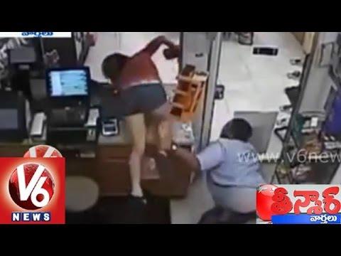 Girl steals money in a super market - Teenmaar News