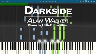 Download Lagu Alan Walker - Darkside (Piano Cover) ft. Au/Ra, Tomine Harket | Tutorial by LittleTranscriber Gratis STAFABAND