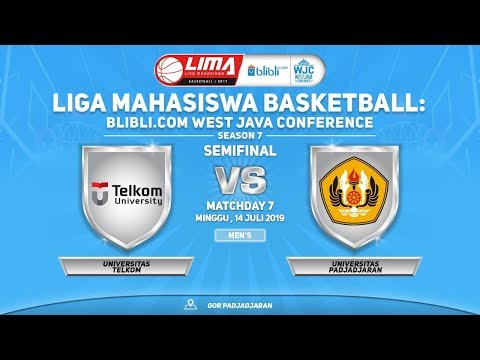 MEN'S: TELKOM VS UNPAD (LIMA BASKETBALL: BLIBLI.COM WJC SEASON 7)