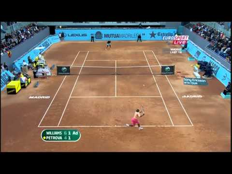 Serena Williams vs. Nadia Petrova 2010 Madrid Highlights