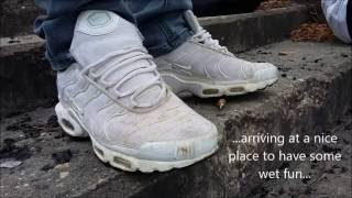Nike Air Max Plus TN white/white - fun in water fully clothed :-)