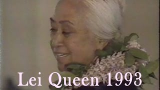May Day Lei queen Interview 1993 - Hannah K. Kaneakua-Basso